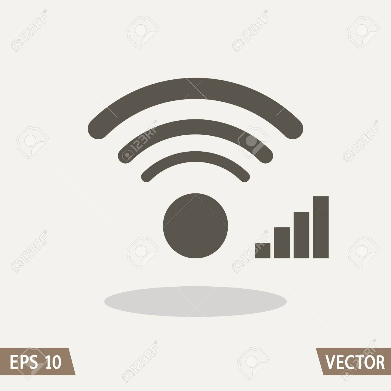 wifi and signal level icons for websites or commercial use royalty