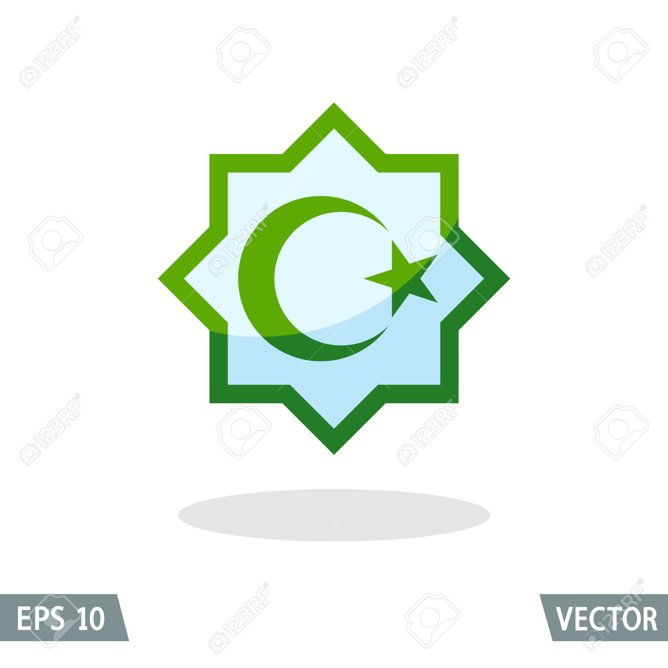 Symbol of islam star and crescent in the octagon color icon symbol of islam star and crescent in the octagon color icon vector illustration for biocorpaavc