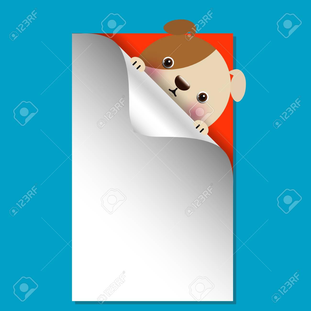 Vector illustration of cute dog with place for text Stock Vector - 19157064