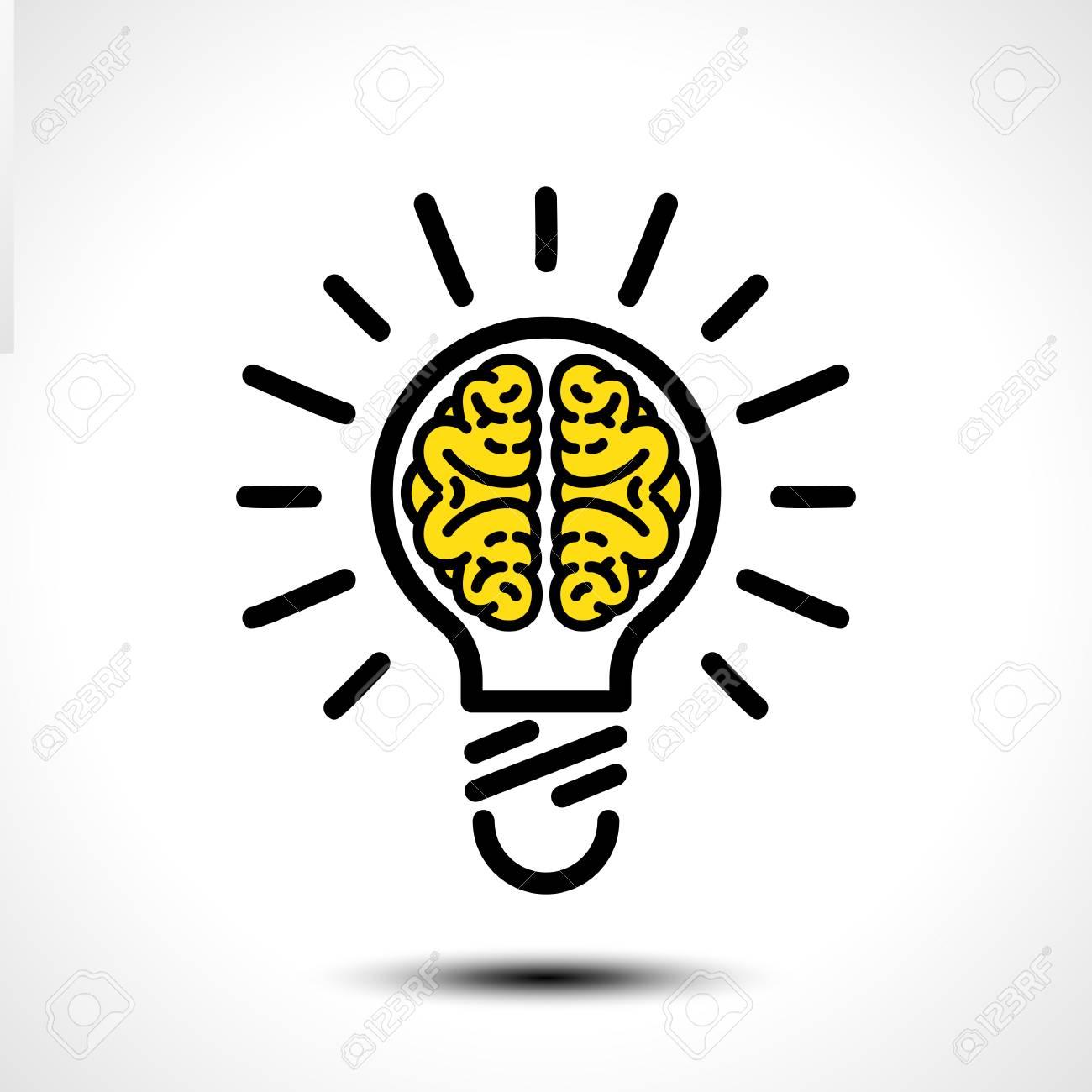 Idee D Ampoule Avec Modele De Logo De Vecteur De Cerveau Icone D Entreprise Telle Que Le Logo Vecteur De Cerveau Idee Ampoule Creatif Clip Art Libres De Droits Vecteurs Et Illustration Image