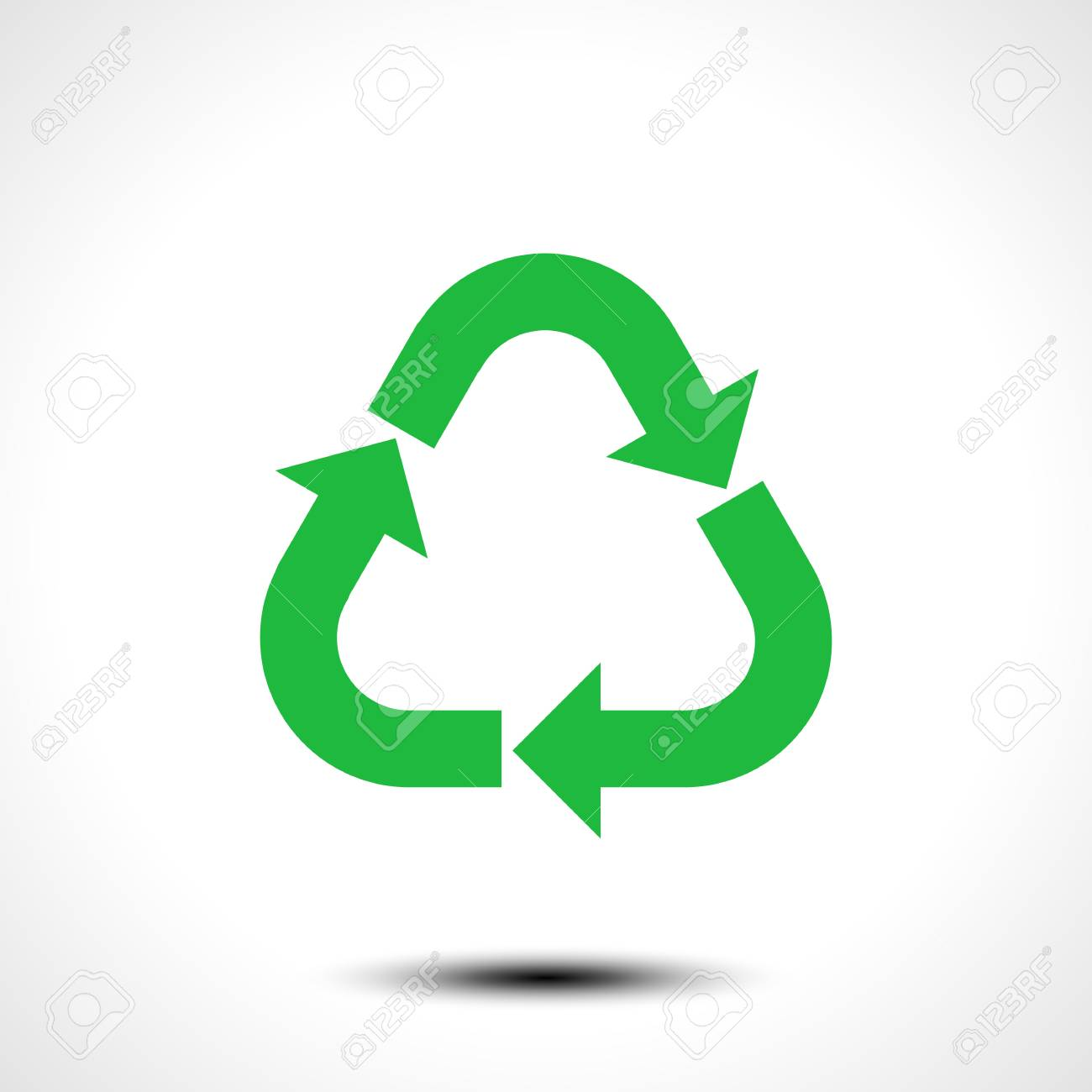 recycle icon eco recycle sign symbol isolated on white background rh 123rf com recycling icon vector free recycling icon vector