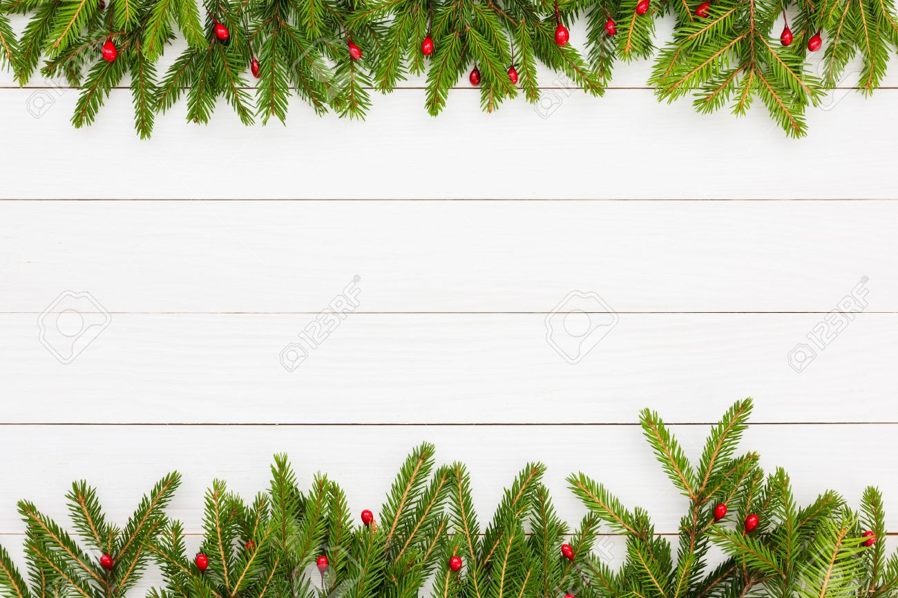 christmas background. christmas fir tree with decoration on white