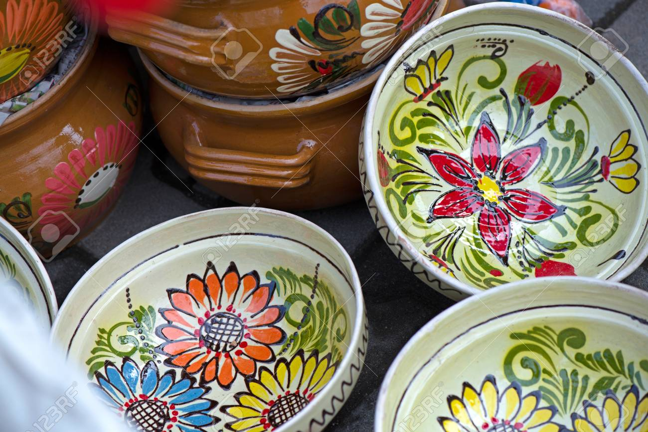Traditional Romanian Painted Clay Pots Used For Easter Meals Stock Photo Picture And Royalty Free Image Image 105324305