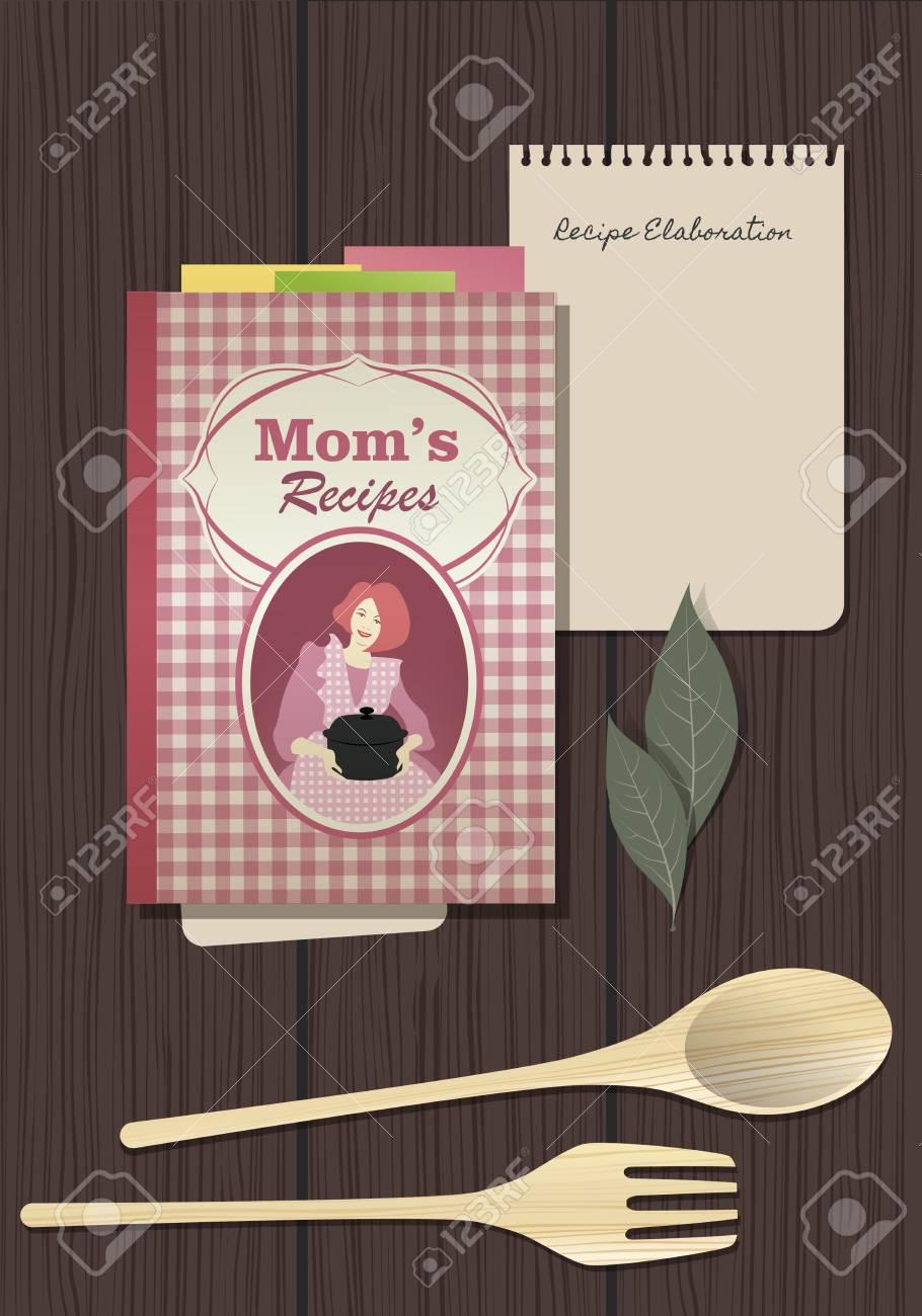 Recettes Cookbook Cahier De Cuisine Fourchette En Bois Et