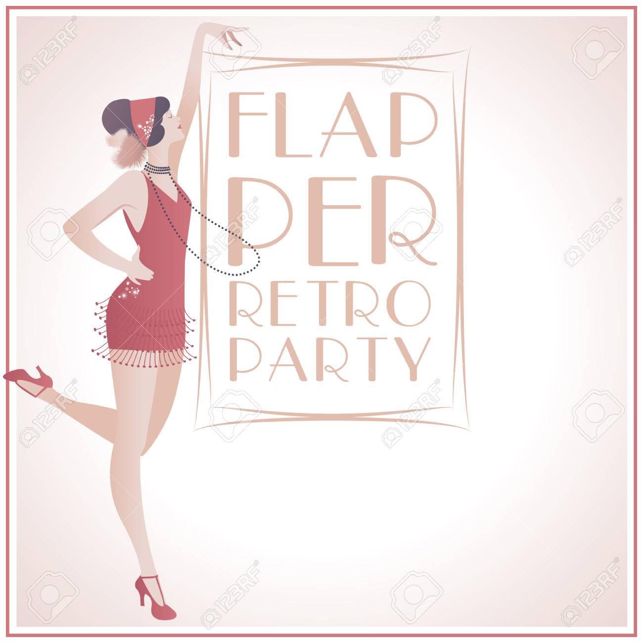 Flapper Girl: Schönes Mädchen In Den 1920er Jahren Kleidung ...