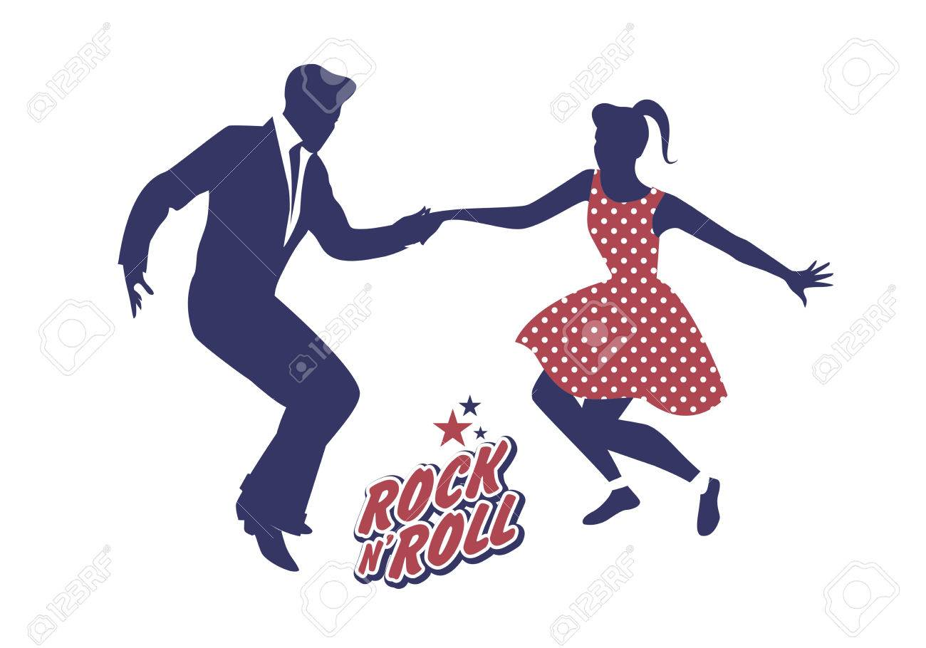 Young couple wearing 50s clothes dancing rock and roll vector young couple wearing 50s clothes dancing rock and roll vector illustration stock vector 75532635 sciox Choice Image