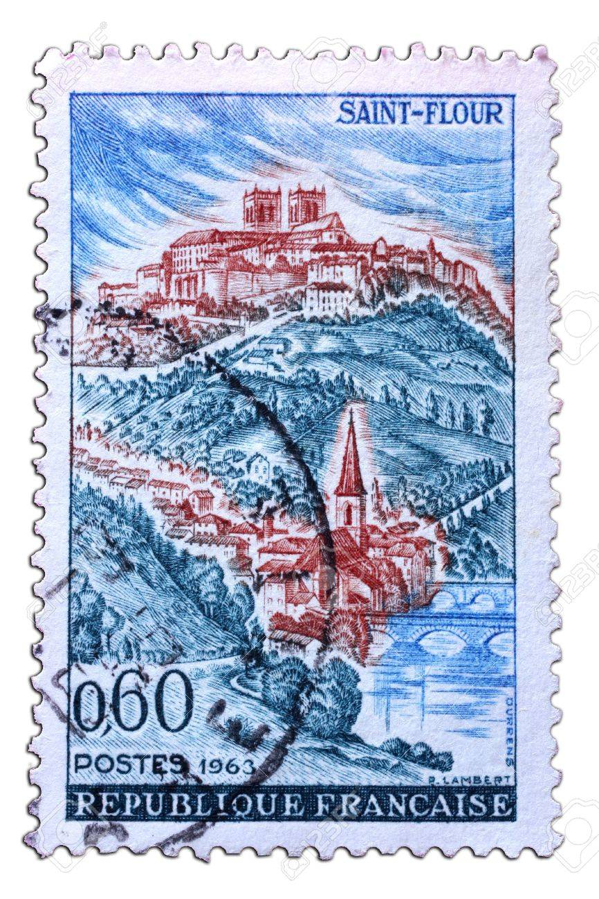 closeup image of postal stamp from france Stock Photo - 4189416