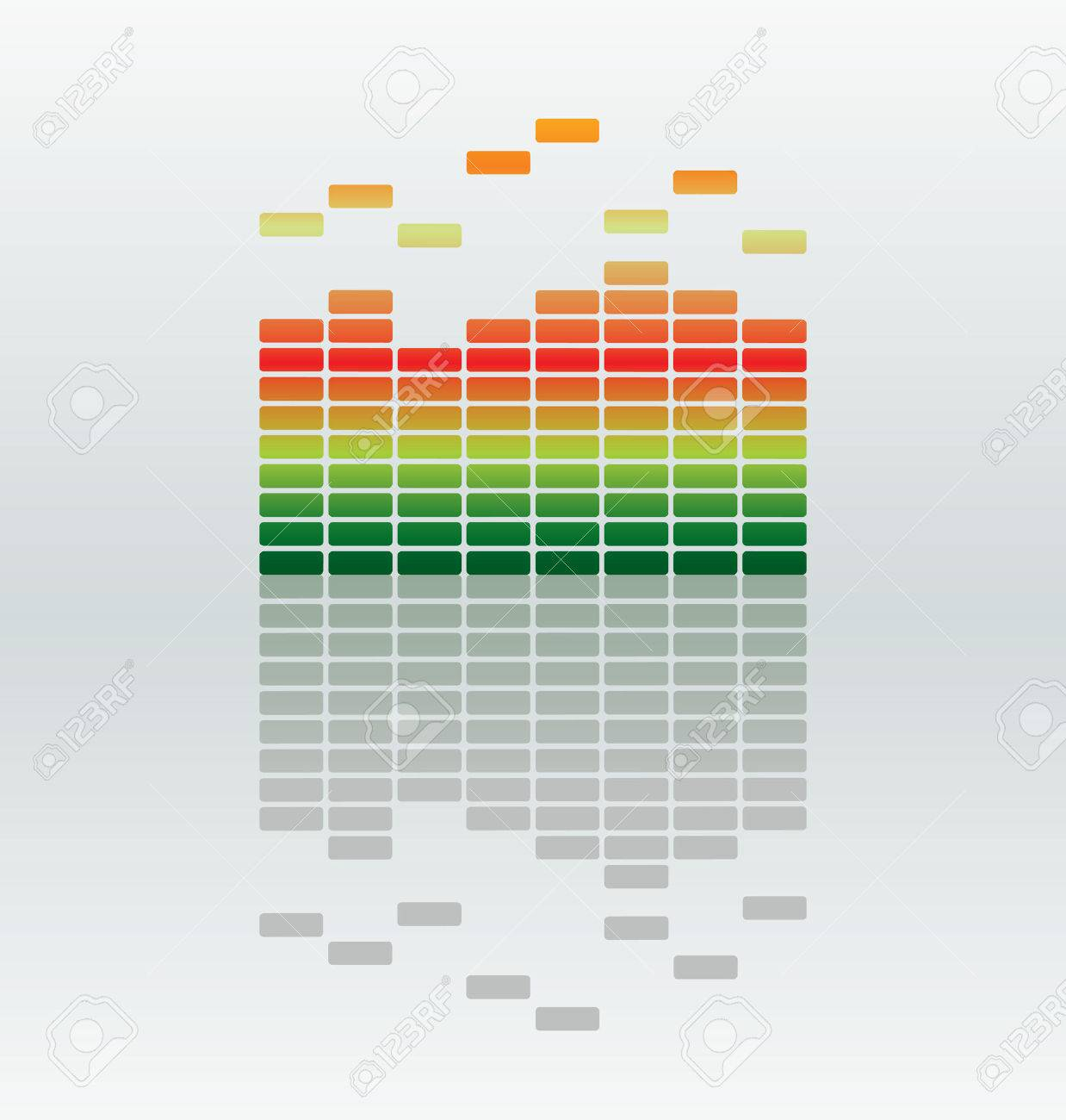 vector equalizer bar with reflection Stock Vector - 3338097