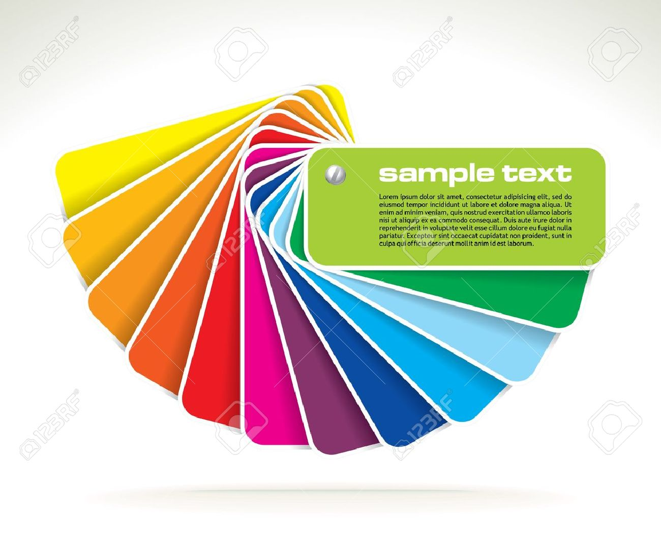 Colour Guide With Sample Text Vector Illustration Royalty Free – Sample Cmyk Color Chart