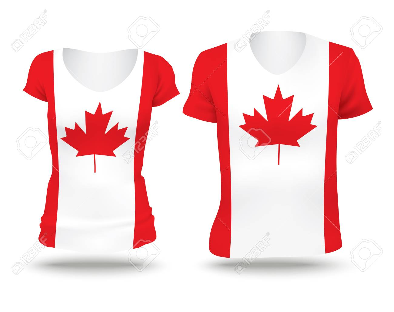 Shirt design canada - Flag Shirt Design Of Canada Vector Illustration Stock Vector 42296751