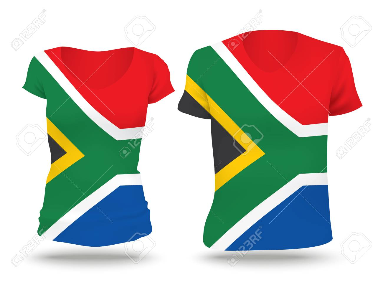 2c975fe95 Flag shirt design of South Africa - vector illustration Stock Vector -  42296873