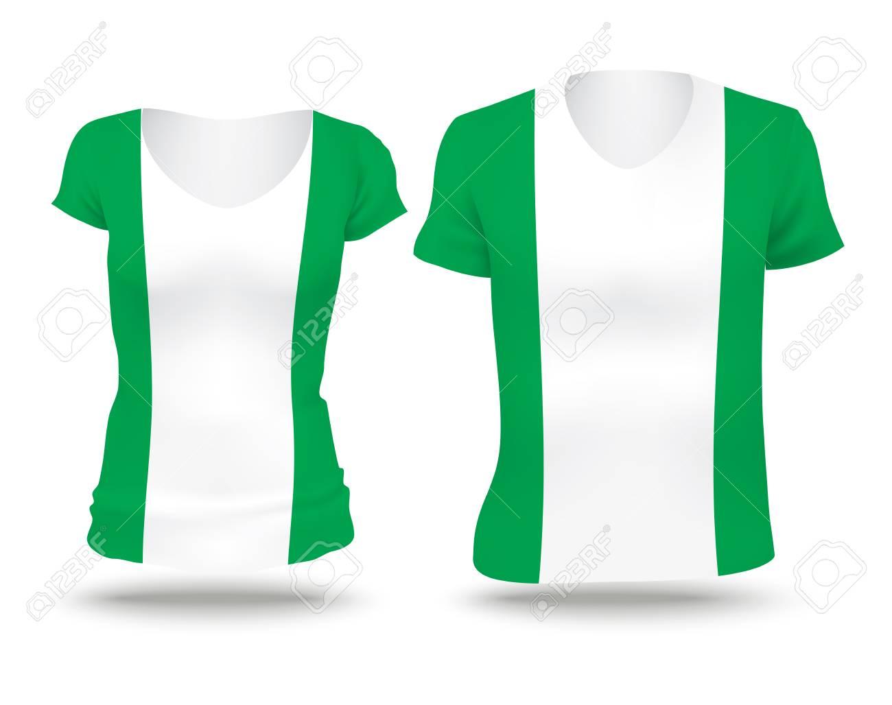 Shirt design in nigeria - Flag Shirt Design Of Nigeria Vector Illustration Stock Vector 42297887