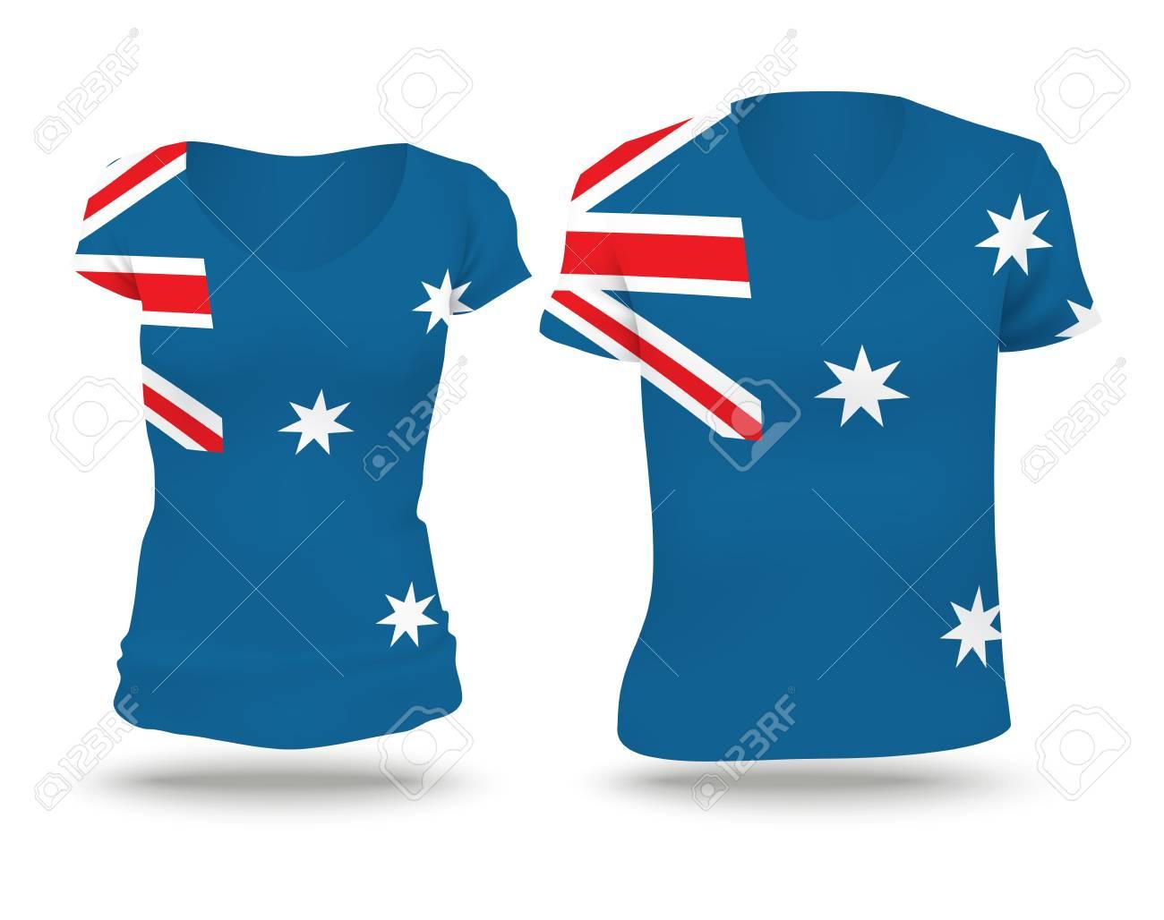 Shirt design australia - Flag Shirt Design Of Australia Vector Illustration Stock Vector 42298632