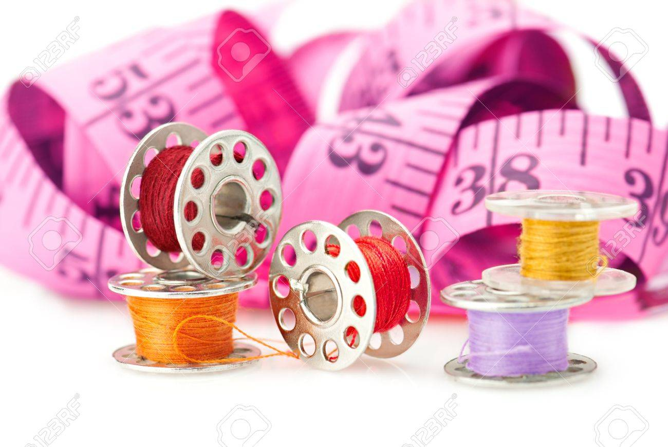 Colored bobbins for machine sewing Stock Photo - 8037150
