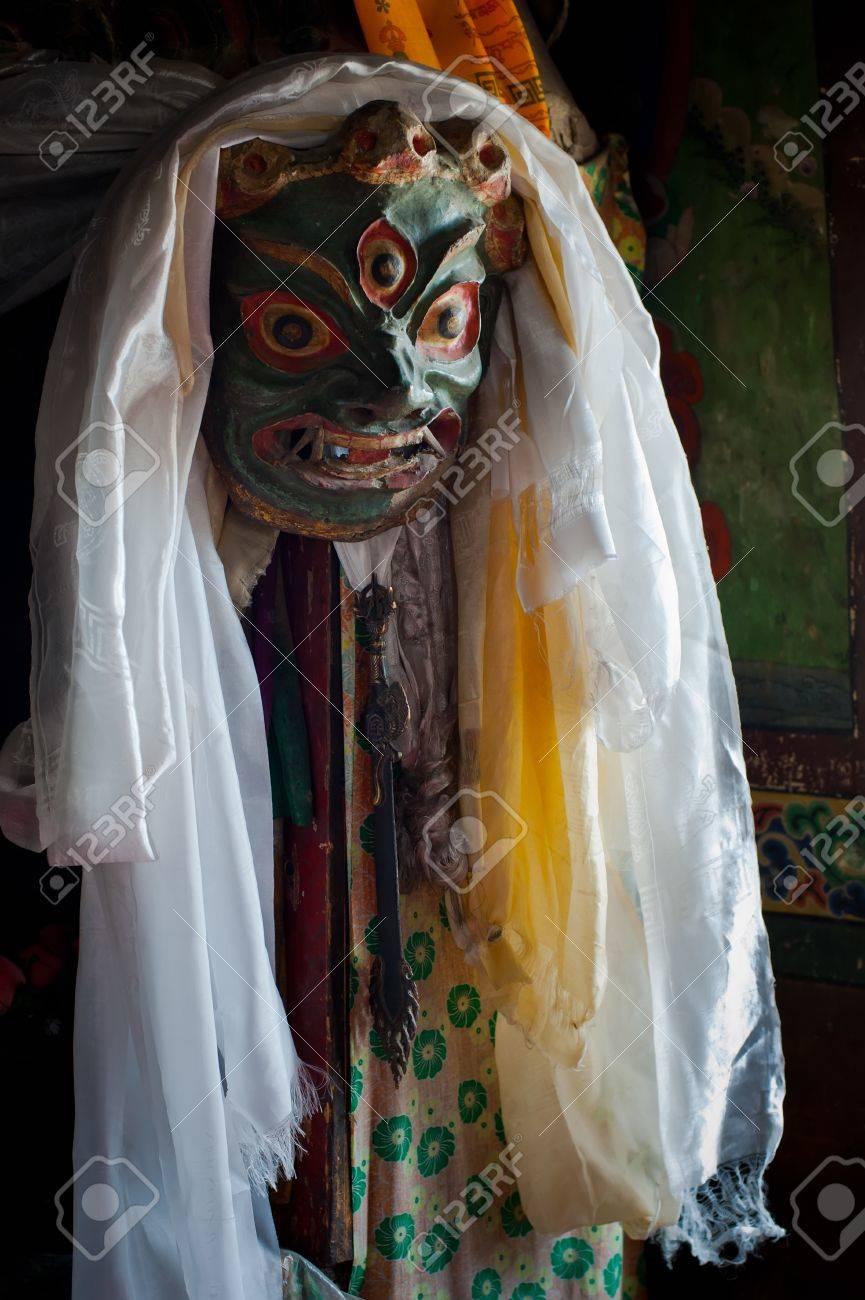 Ancient Mahakala Dance Mask At Lamayuru Buddhist Monastery Temple ...