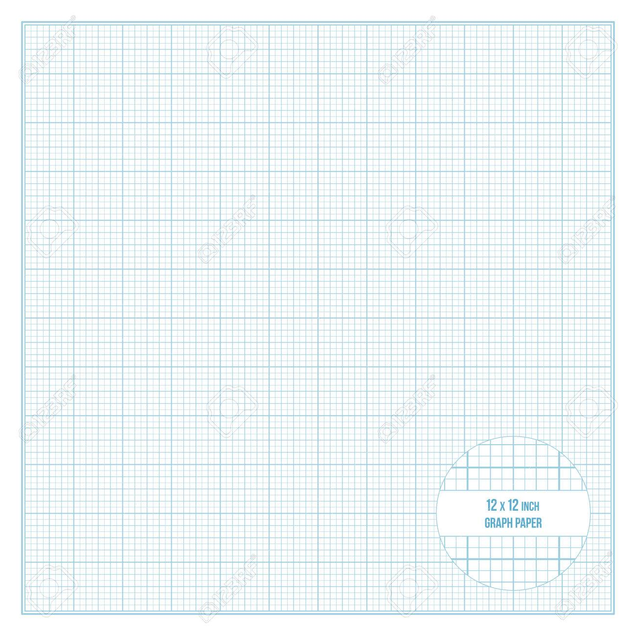 worksheet Printable Graphing Paper vector blue printable graph paper 12x12 inch size grid accented every stock vector