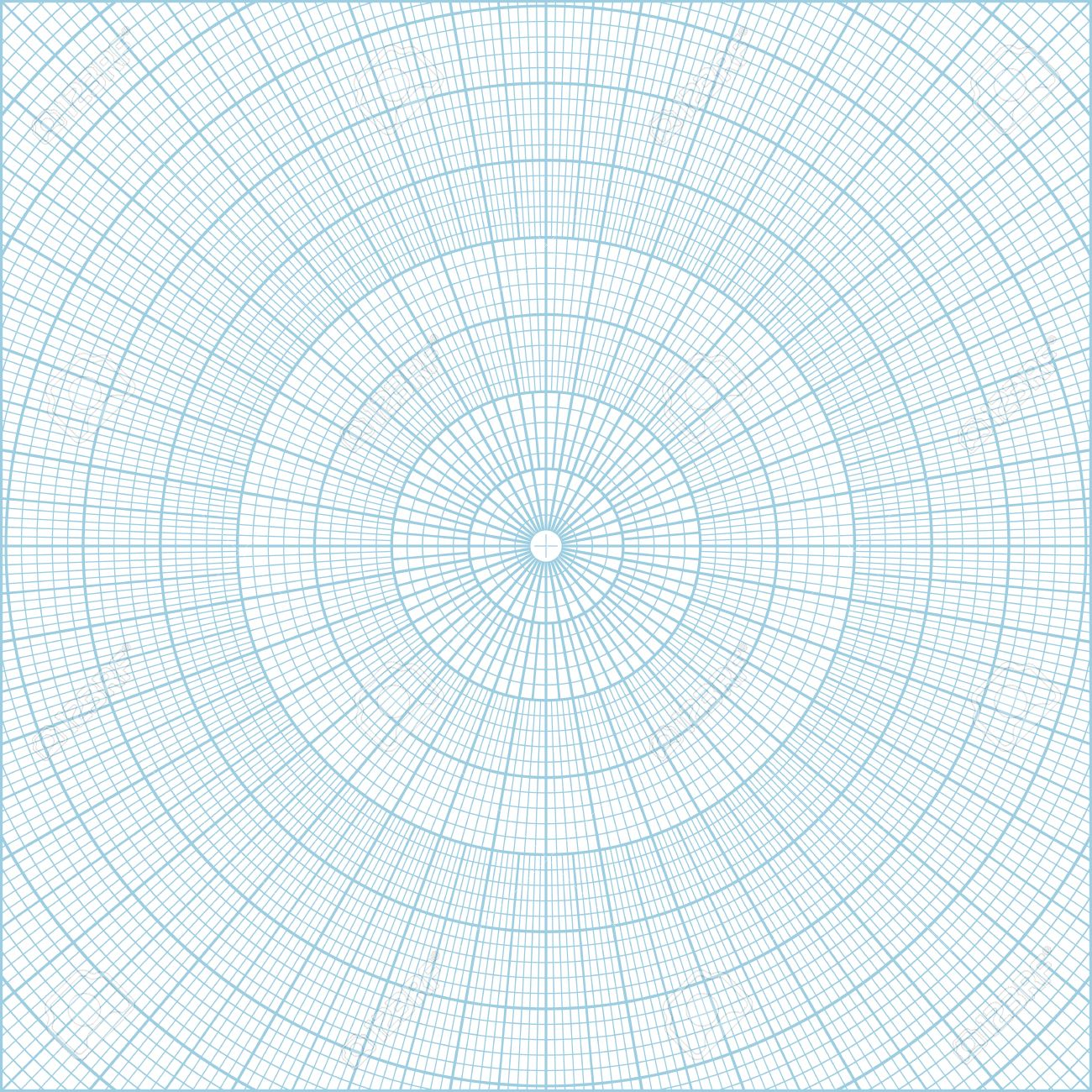 picture about Printable Polar Graph Paper titled Blue vector polar coordinate round grid graph paper historical past,..
