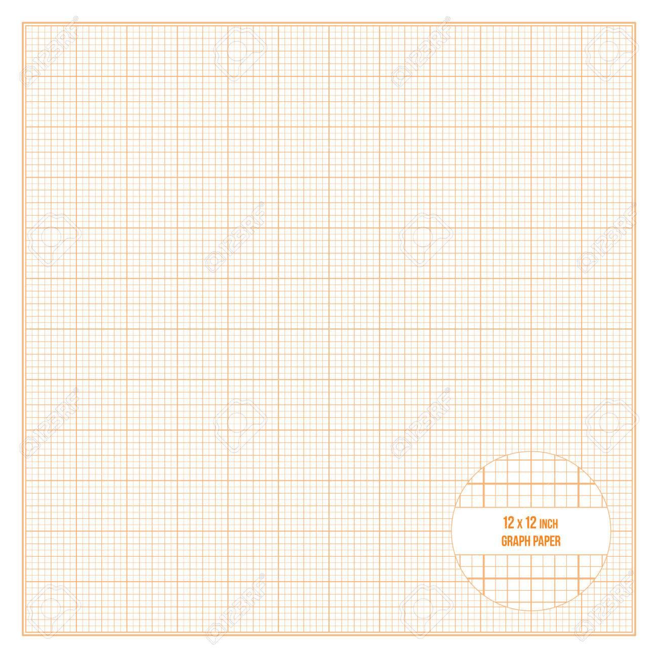 Vector orange printable graph paper 12x12 inch size grid accented vector vector orange printable graph paper 12x12 inch size grid accented every inch malvernweather Gallery