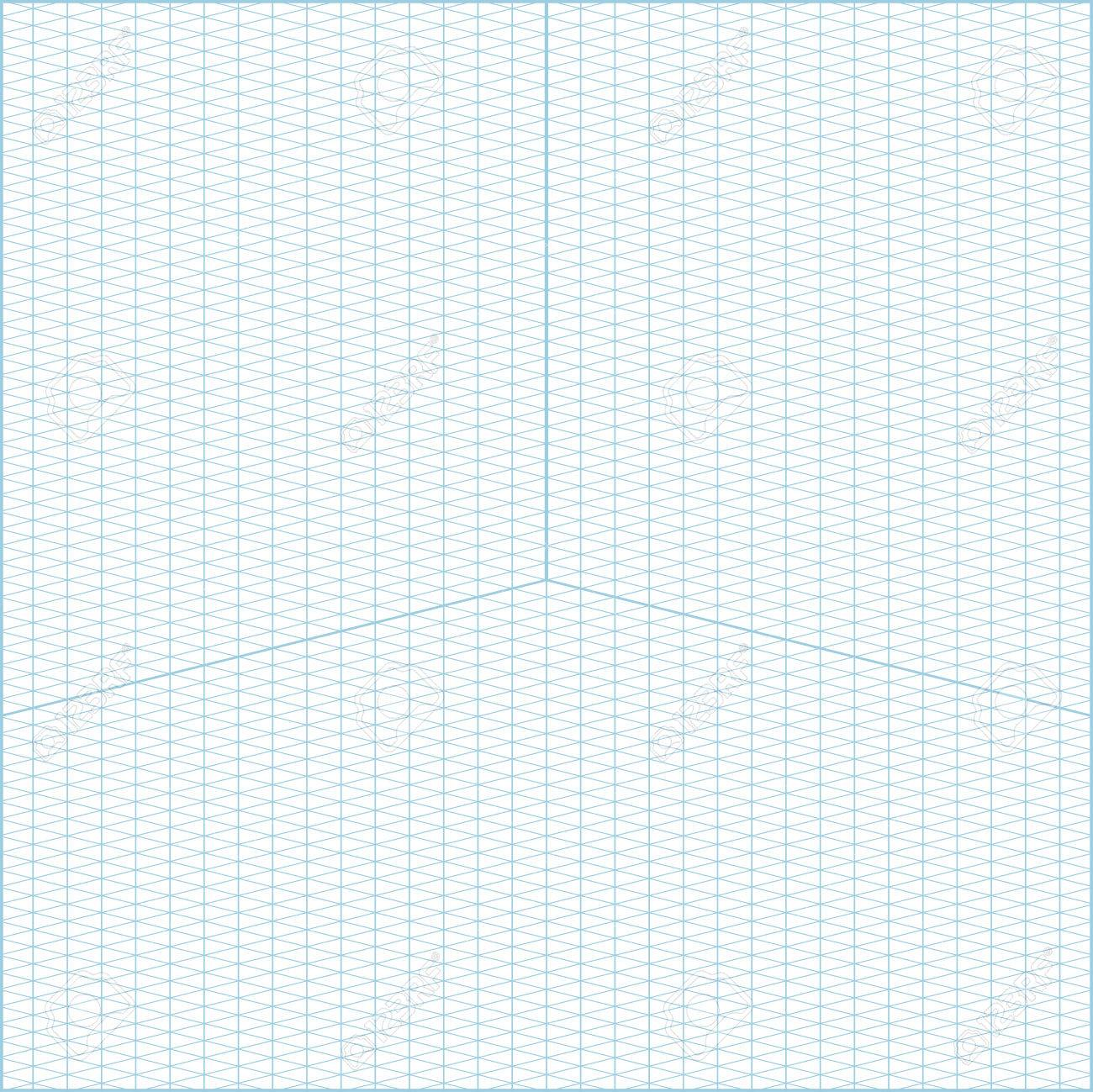 Vector Blue Wide Angle Isometric Grid Graph Paper Square Background With  Axes Stock Vector   81564069
