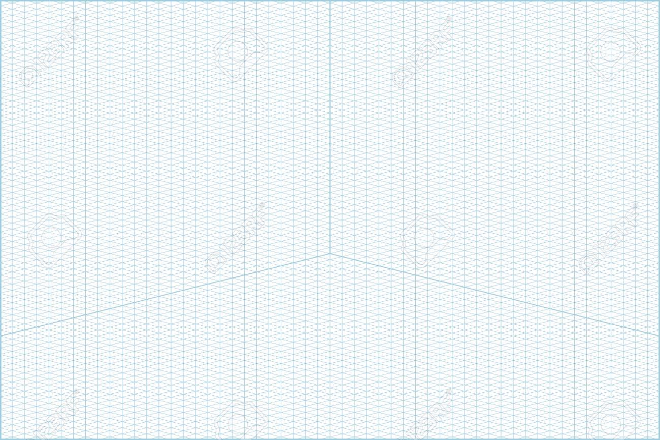 photo regarding Isometric Graph Paper Printable named A Vector blue vast mindset isometric grid graph paper horizontal..