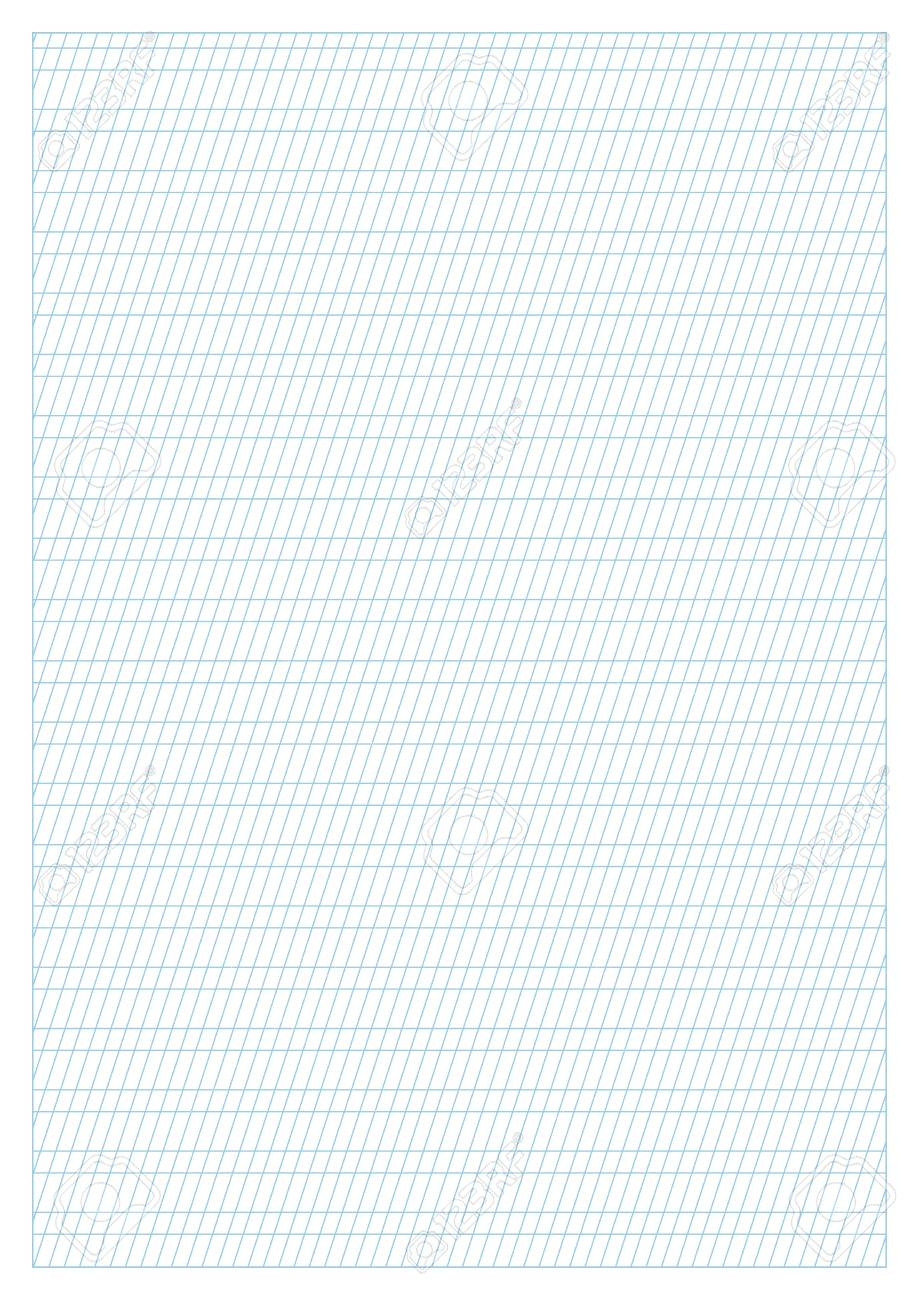 photograph regarding A4 Printable Paper known as Vector blue calligraphy coach paper A4 measurement, printable, slanting..