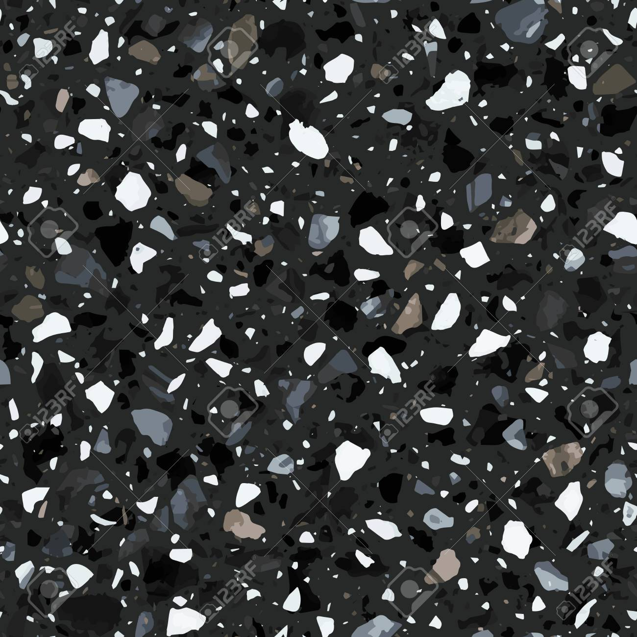 Terrazzo Flooring Seamless Pattern In Dark Colors