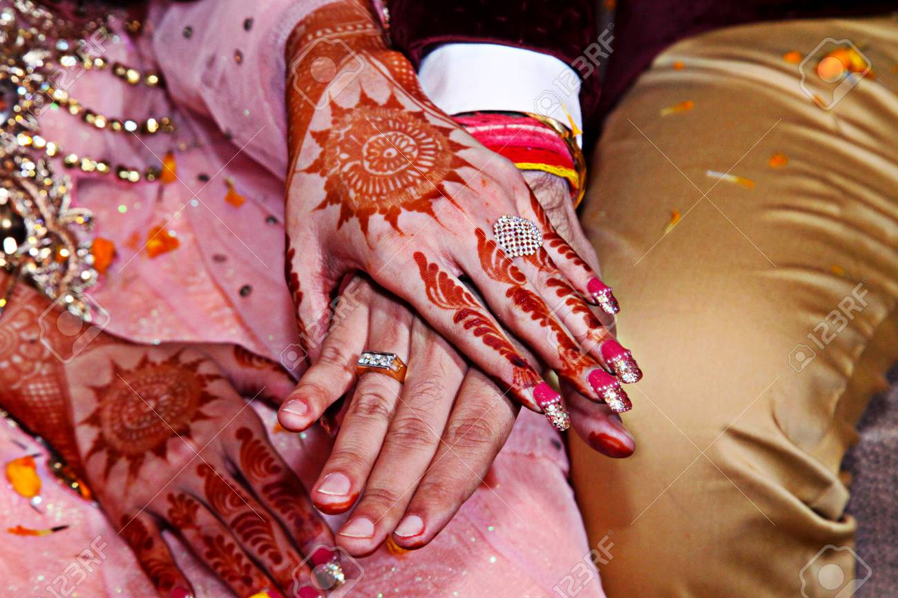 Ring Ceremony Of Indian Wedding Stock Photo, Picture And Royalty ...