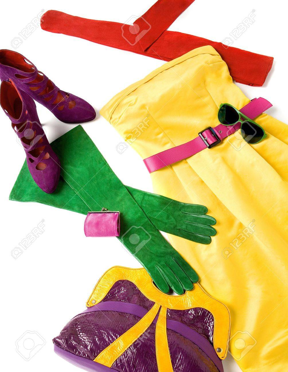 Color block still life fashion composition Stock Photo - 18822434