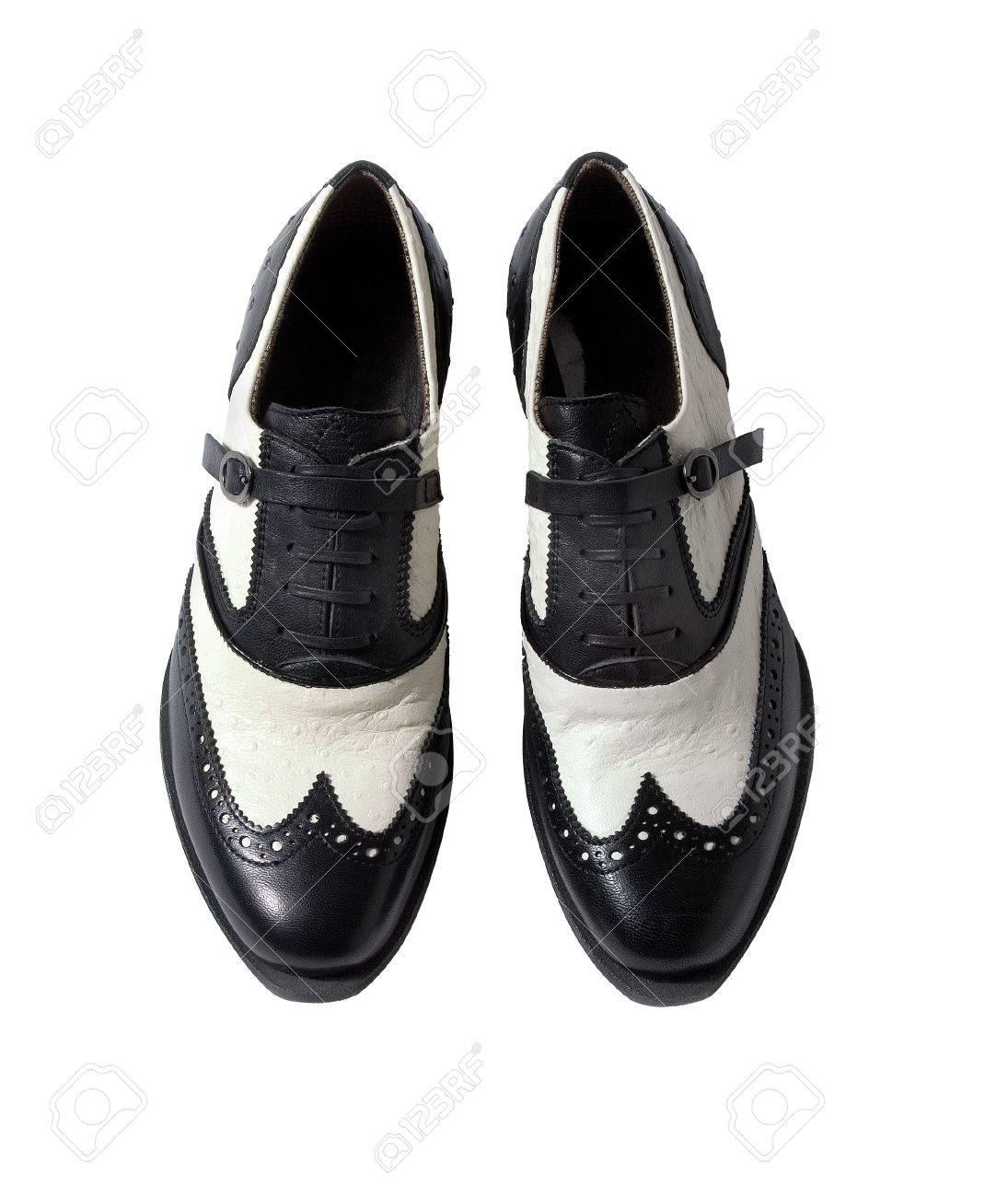 Blanc La Peau D'autruche Richelieu Oxford Fond Sur Inclus Chaussures Isolé Femmes Ceinturés Détourage Bicolores TFJK1cl