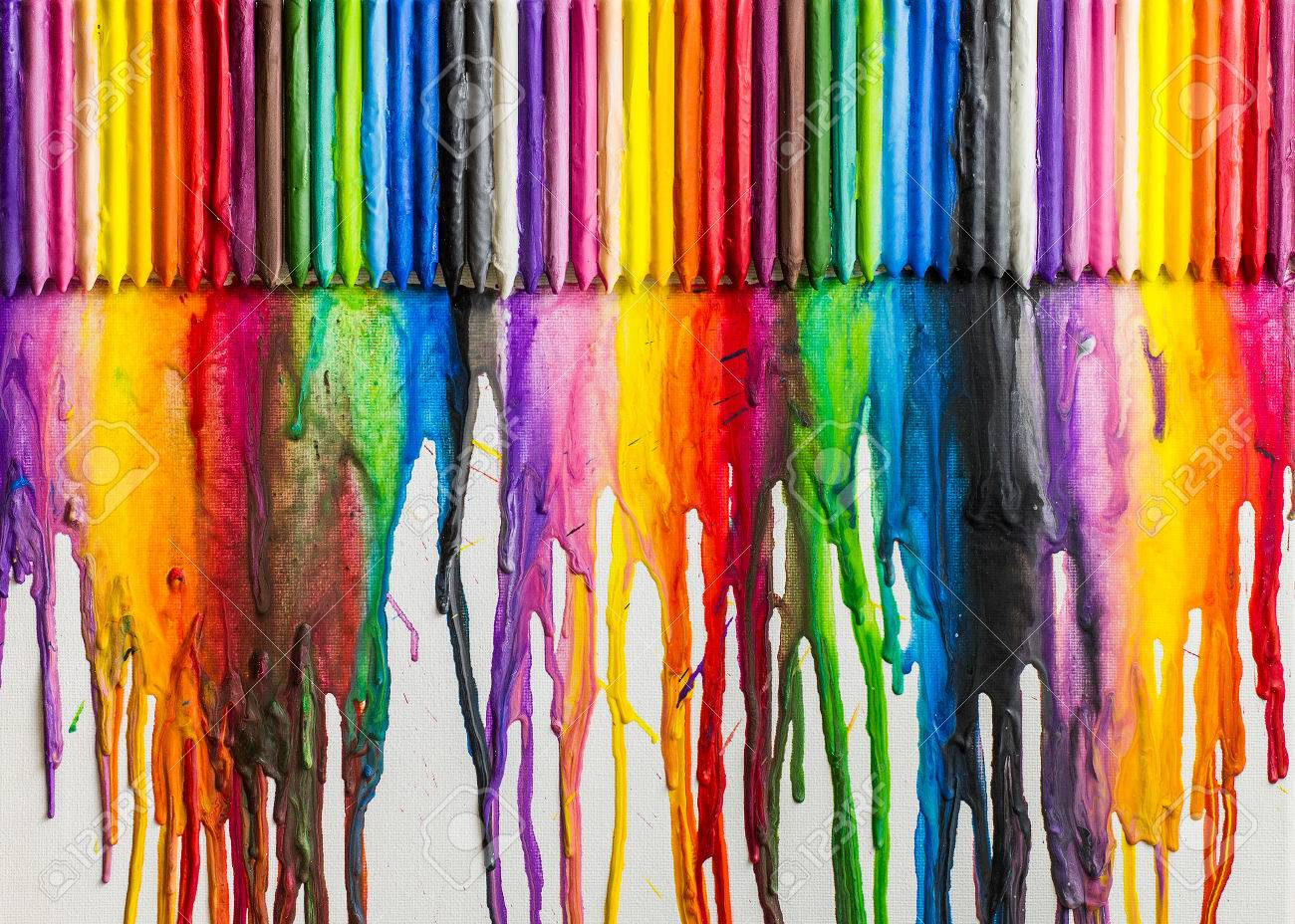 Abstract Art Using Melted Crayons
