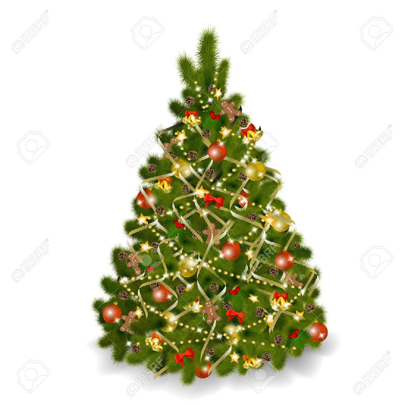 Christmas tree on white background.   illustration Stock Vector - 8687444