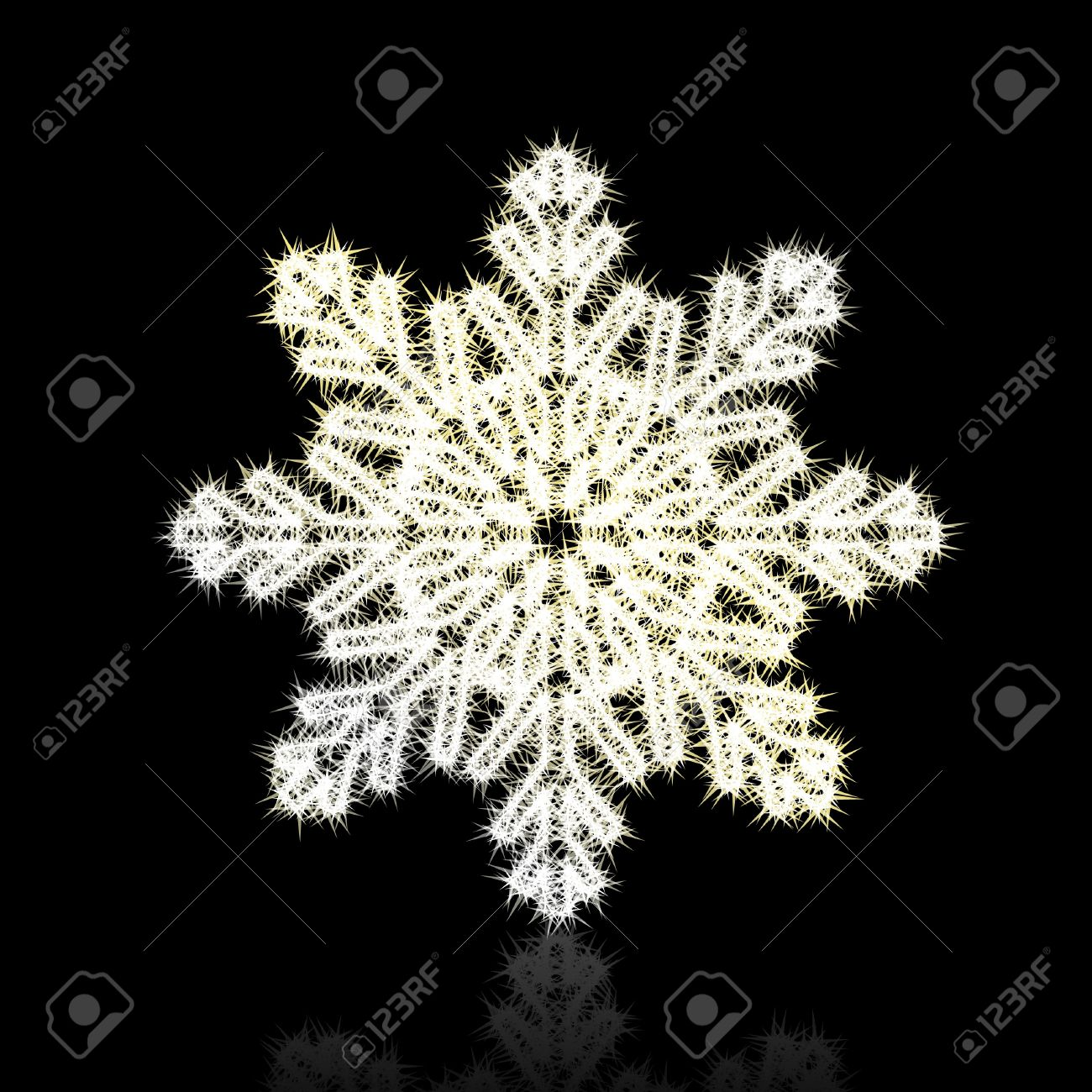 Christmas snowflake on black background. Stock Vector - 8744612