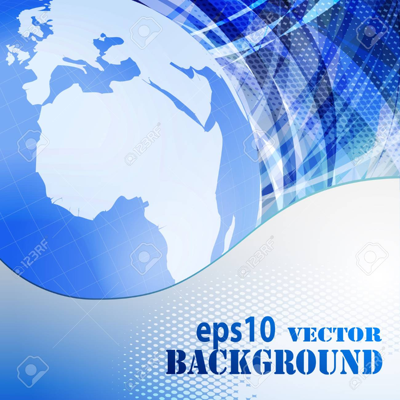Abstract blue business background with globe. Stock Vector - 8744642