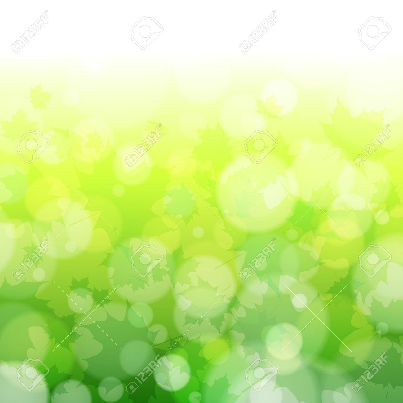 Nature Background Green Spring Leaves Vector Stock Vector ...
