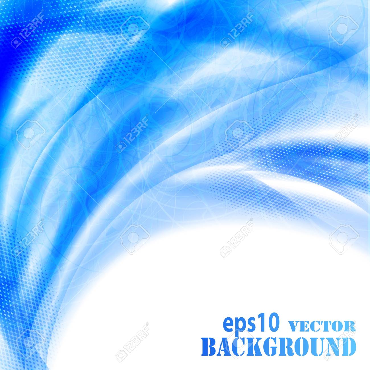 Abstract blue waves background. Vector eps10 illustration Stock Vector - 9721833