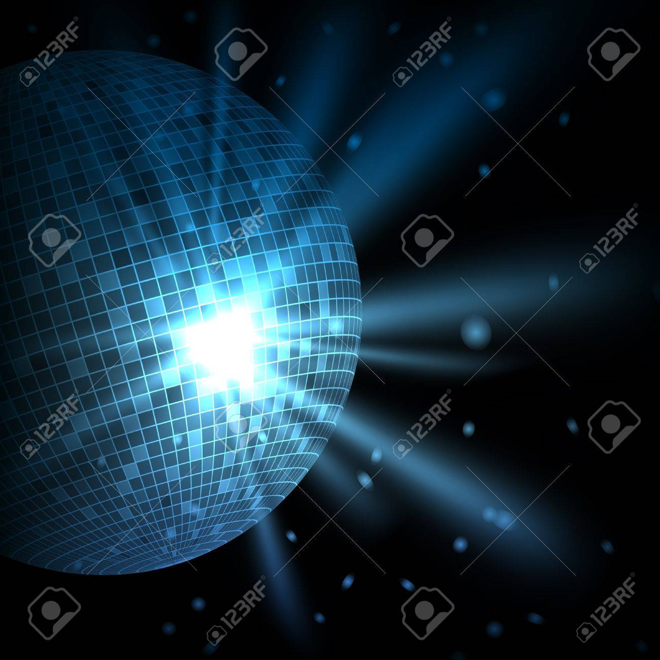 Abstract blue background with disco ball. Vector eps10 illustration Stock Vector - 9721828