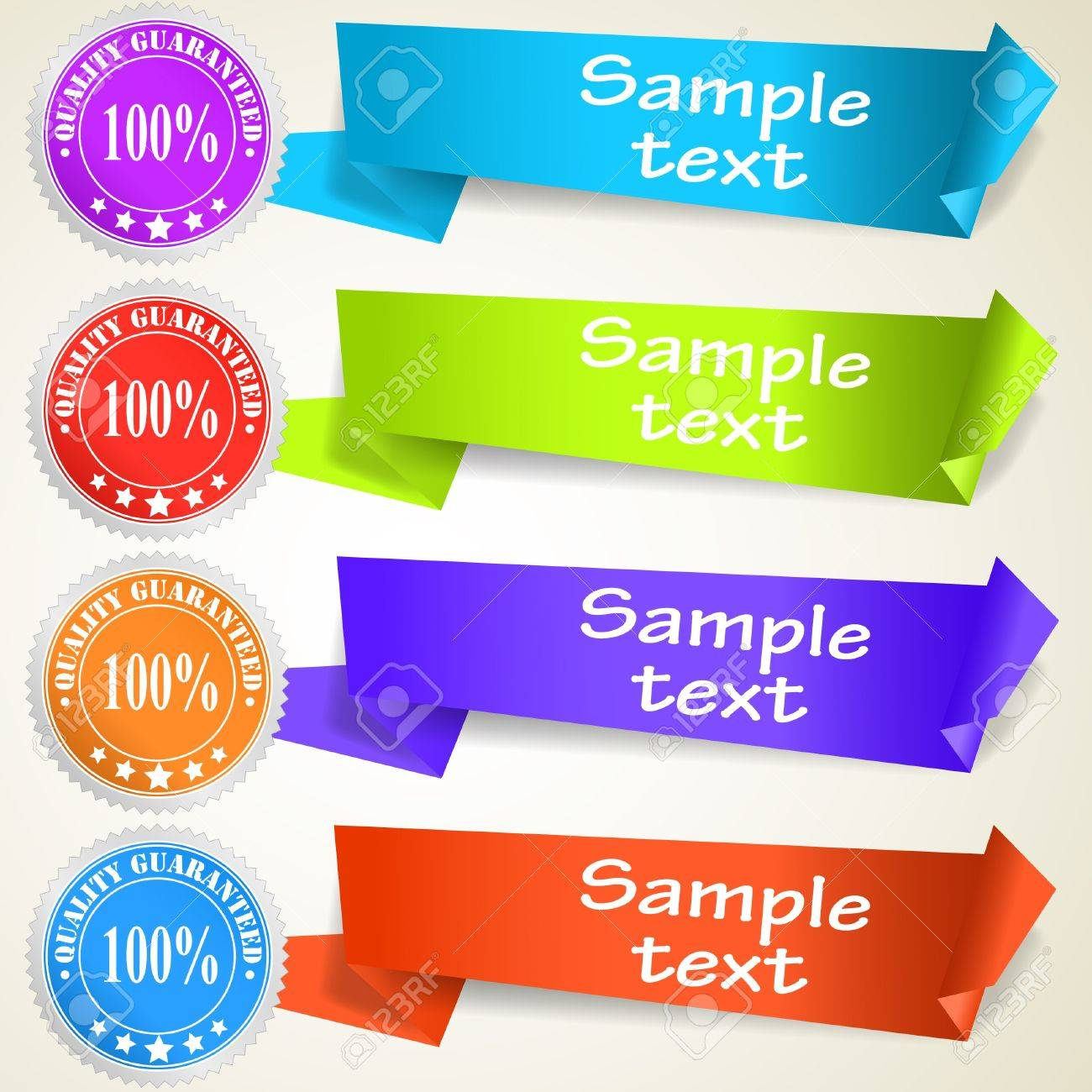 Set of abstract origami tag labels. Vector eps10 illustration Stock Vector - 9719764