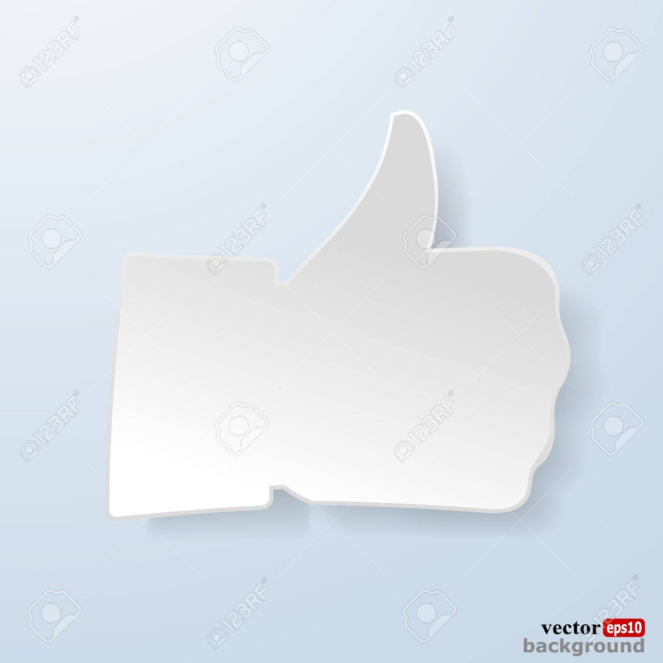 Thumbs up paper sign on light blue background like symbol used thumbs up paper sign on light blue background like symbol used in a social networks buycottarizona Choice Image