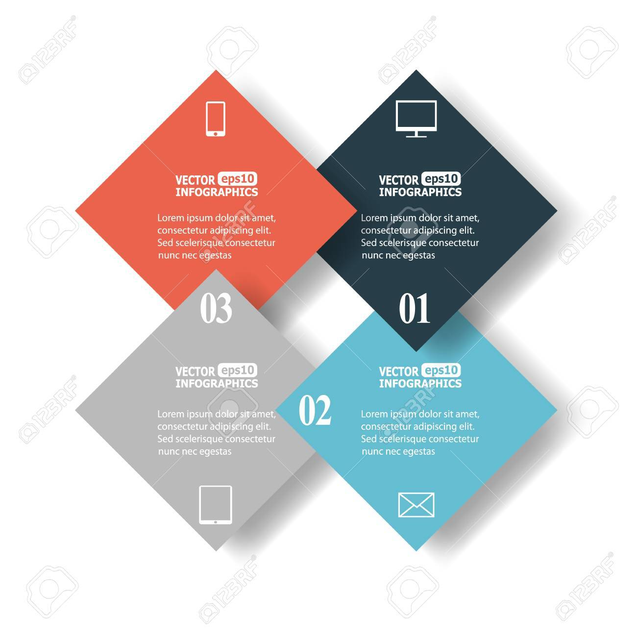 Abstract paper infographics. Stock Vector - 22114799