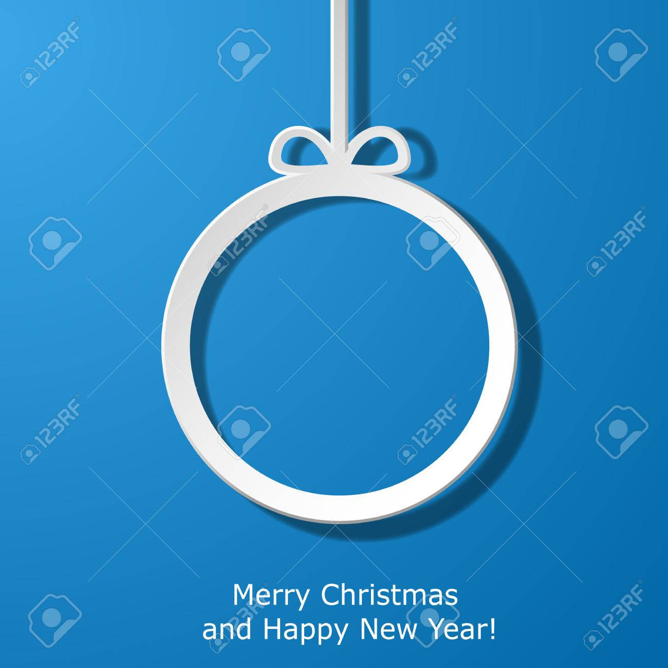 Modern Xmas greeting card with paper Christmas ball. Vector eps10 illustration Stock Vector - 24392000