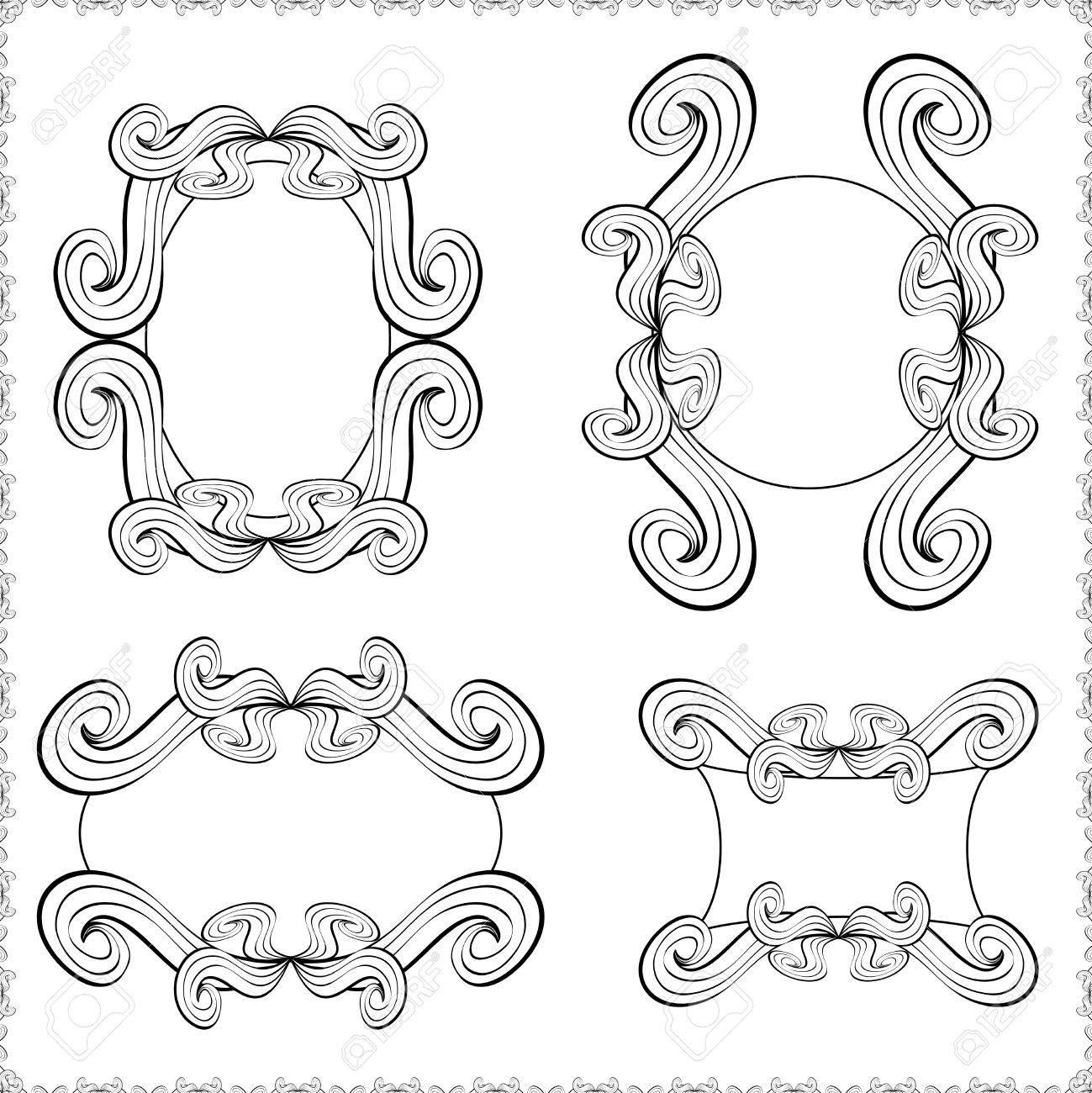 Vintage Verzierten Frame.Template Klassischen Rahmen Für Ihr Design ...