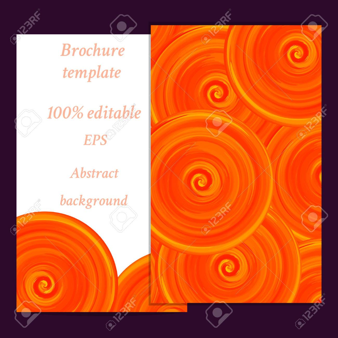 Abstract Banner Invitation Card Template Frame Design For Card