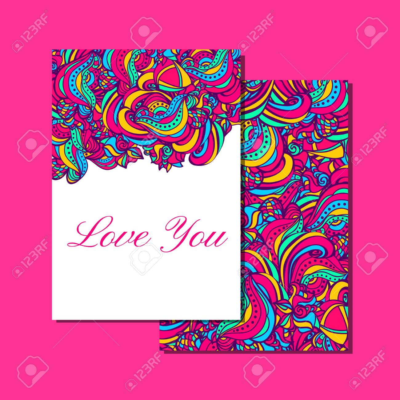 Vivid Invitation Card Bright Colors Easily Editable Template