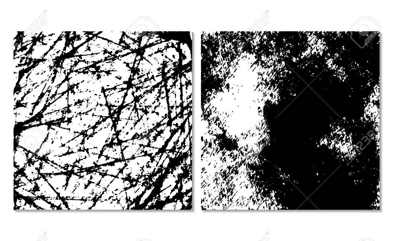 2 グランジ背景のテクスチャのセットです。モノクロの背景。簡単編集
