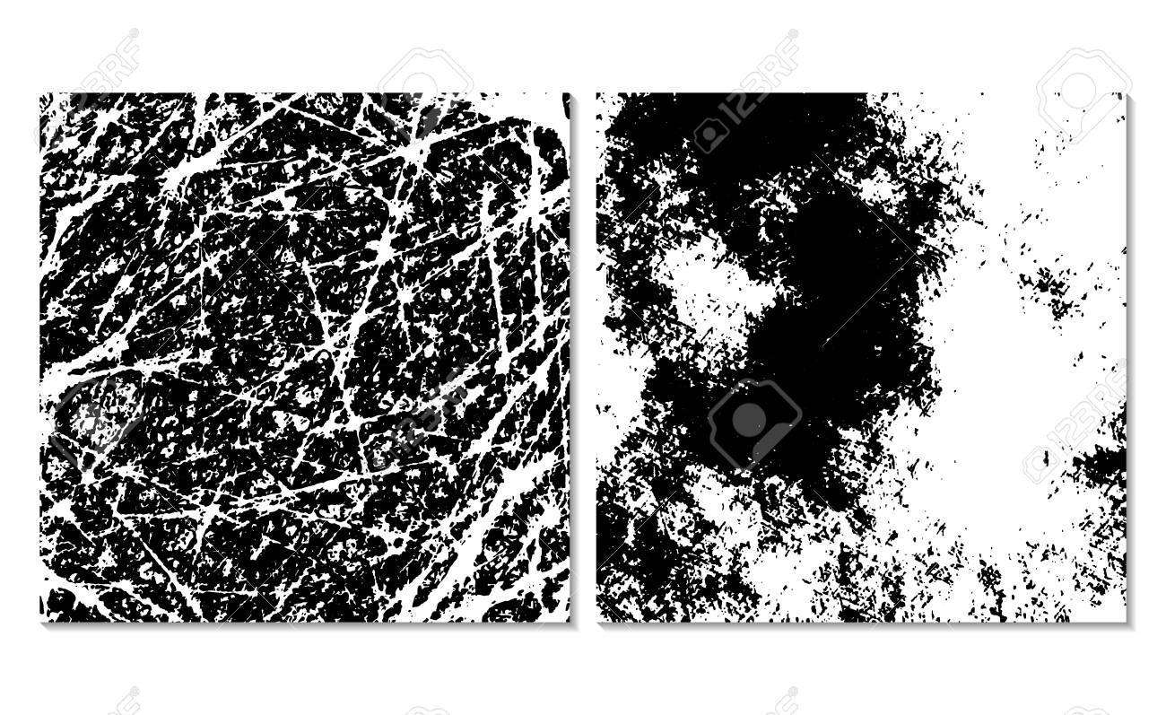 Set Of 2 Grunge Background Textures Monochrome Backdrop Easy