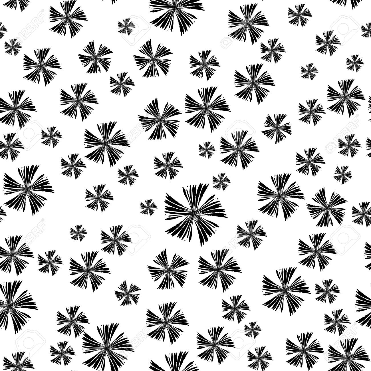 Abstract Simple Seamless Pattern Cute Background With Black