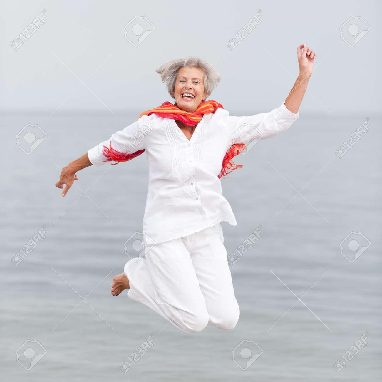 Active and happy senior woman Stock Photo - 13310163