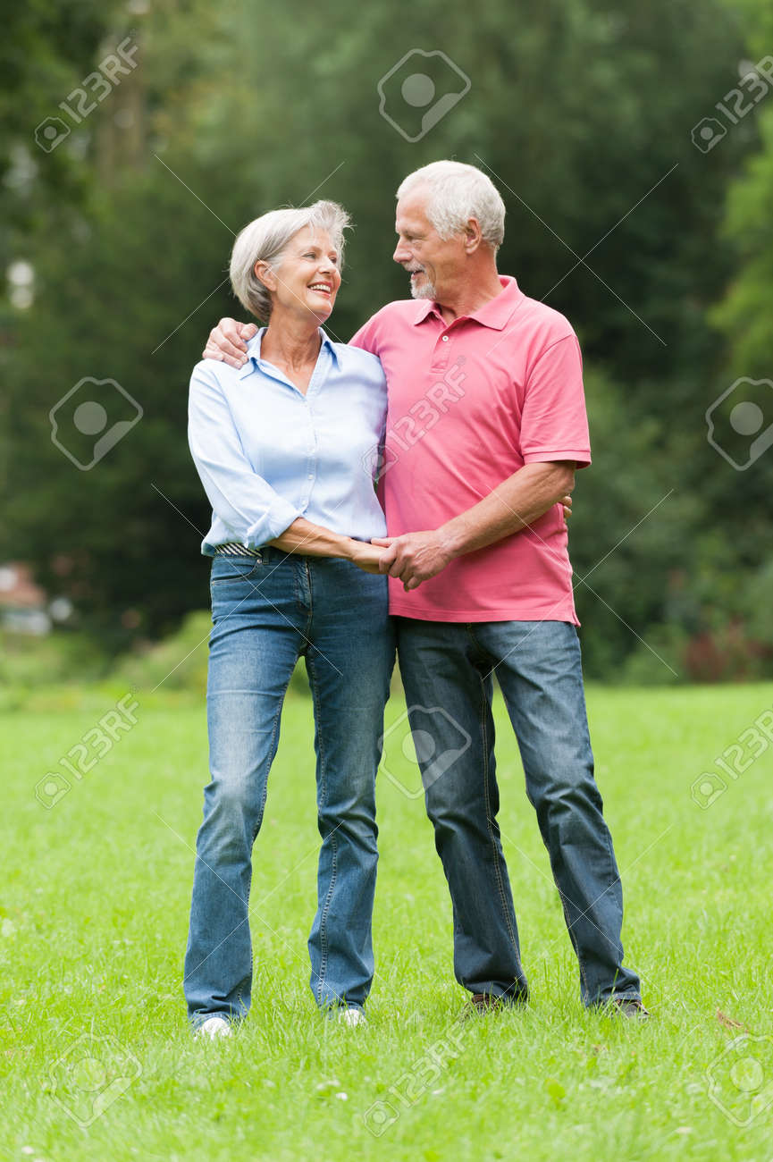 Happy and smiling senior couple in love - 14802386