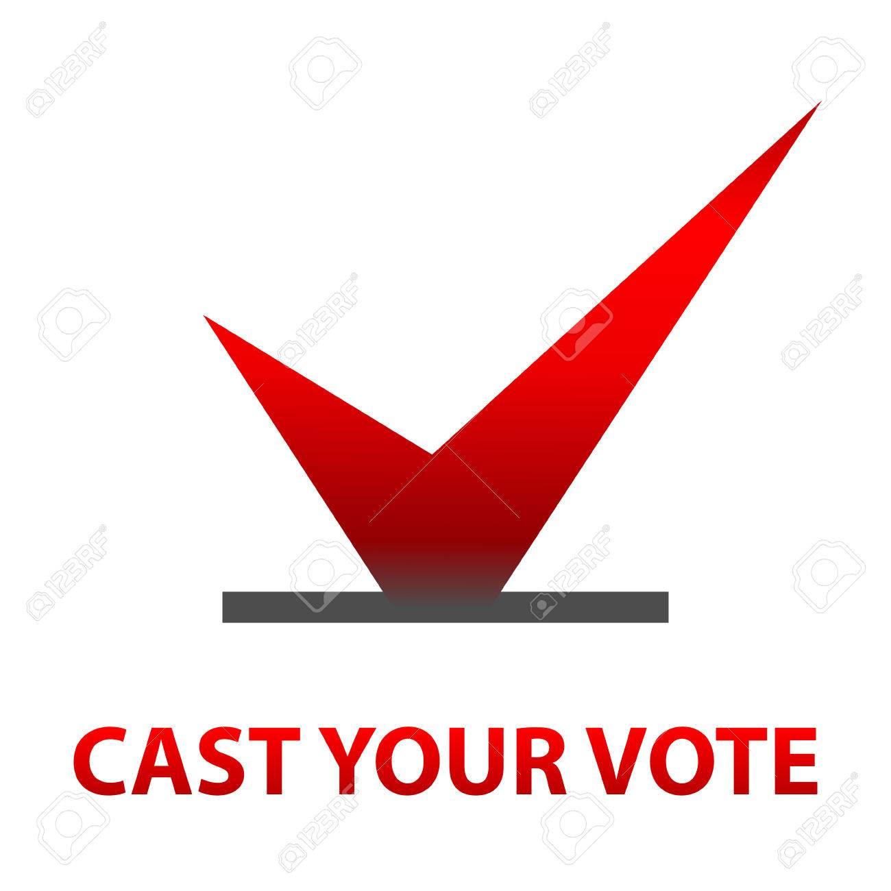 Emitir Su Voto Símbolos De Diseño. Elecciones Plantilla Iconos ...