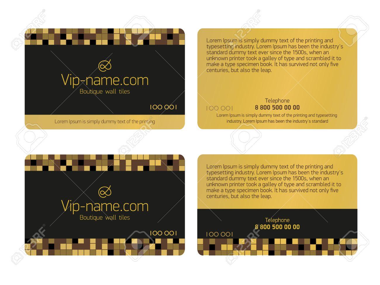Carte De Fidelite De Modele De Conception Belle Cartes Cadeaux Carte De Visite Isole Clip Art Libres De Droits Vecteurs Et Illustration Image 57204467